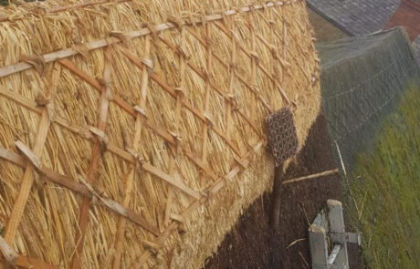 RJ Matravers Thatched Ridge with tools - Maintenance