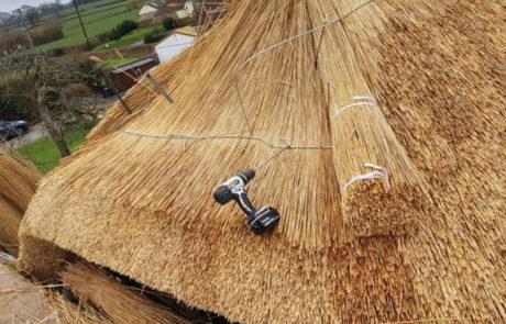 RJ Matravers Thatch being laid